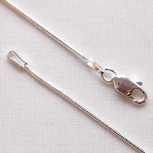 "Sterling Silver Chain 18"" (46cm) Round Snake"